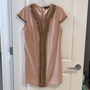 Bebe beaded v neckline dress